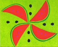 Sacred Watermelon I in Acrylic Paintings at Healing SpiritScapes