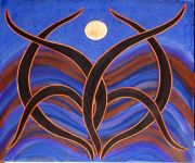 MoonDance in Acrylic Paintings at Healing SpiritScapes